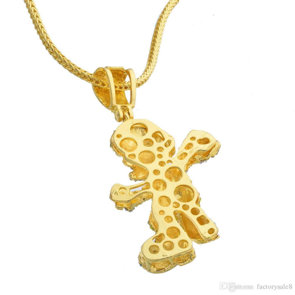 2018 Very Lage Size 36inch Franco Chain Cartoon Game pendant Hip hop Necklace Jewelry Bling Bling Iced Out,