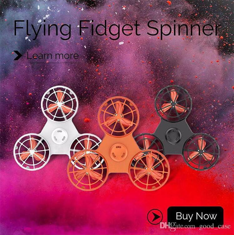 Flying fidget spinner 2018 verano niños juguetes para niños Cargador de mano Spinner mosca giroscopio Tri Spinners Puntas de los dedos Espiral Dedos Gyro caliente