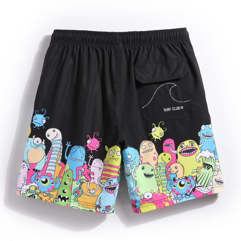 67752f1427 Gailang Summer Board Shorts Cartoon Pattern Loose Swimwear Men ...