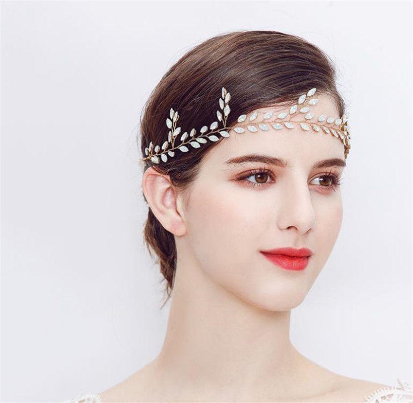 Crystal Chain Hair Comb Headwear Luxury Wedding Women Bridal Jewelry Accessory
