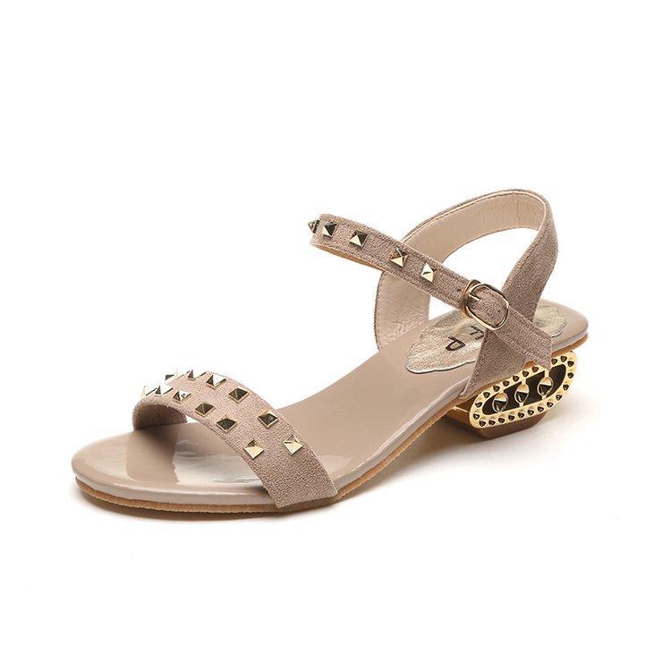 004c54afdbf1fb Großhandel 2018 Luxus Sommer Frauen Sandalen Nieten Peep Toe Damenmode  Knöchelriemen Damen Elegante Strand Sandalen Schuhe Frau Von Gongfu119