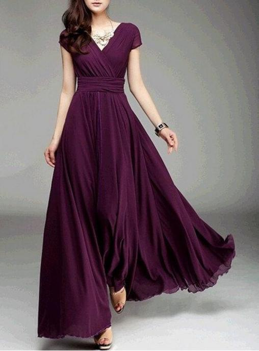 2019 Summer Wanita Long Dress Maxi Bohemia V Neck Lengan Pendek