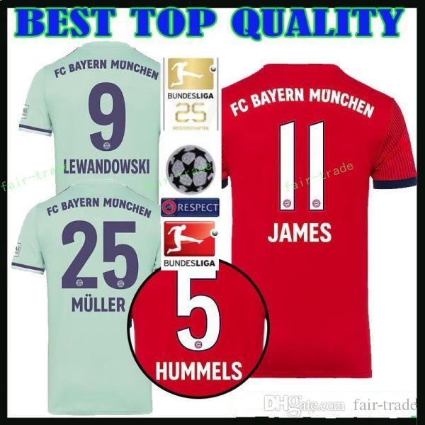 9d696b2c03 Compre FC Bayern De Munique Futebol 1 NEUER Jersey Homens Vermelho Casa  Verde 6 THIAGO 7 RIBERY 8 MARTINEZ 17 BOATENG Camisa De Futebol Kits  Uniforme De ...