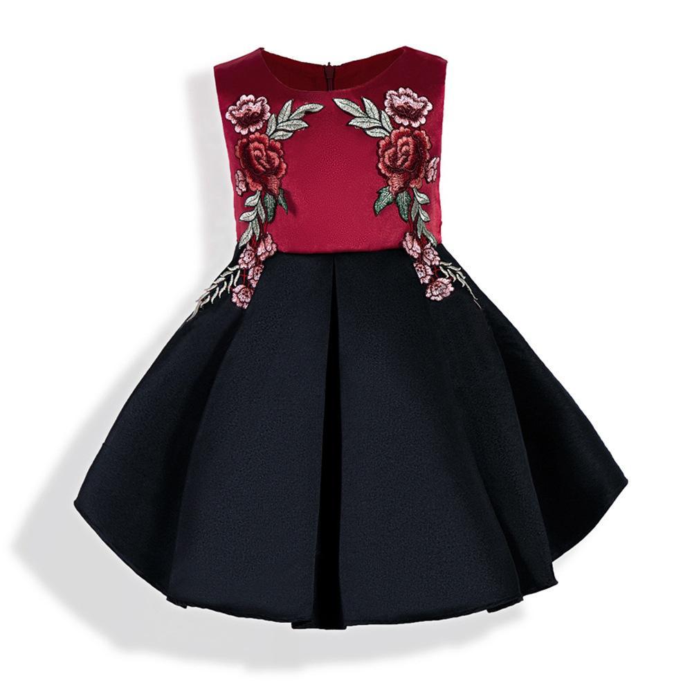 Großhandel Mädchen Sommer Bestickte Kleid Kindergarten Baby ...