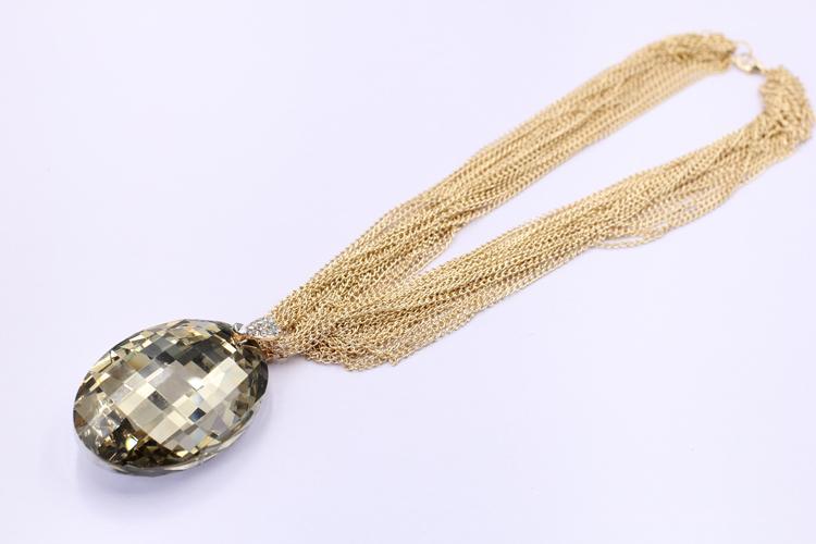 2017 All'ingrosso di alta qualità Trendy Vintage moda collana pendente di cristallo choker dichiarazione bib catena collana Prezzo di fabbrica