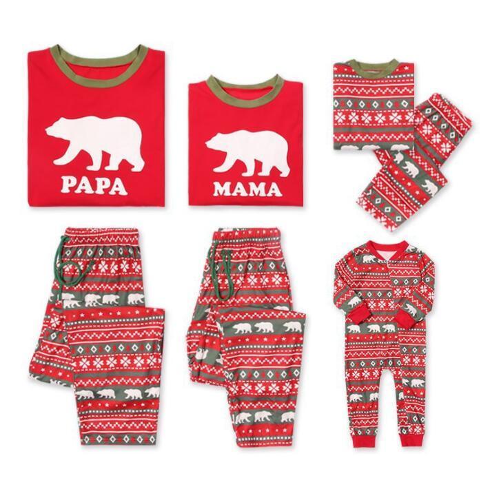 PAPA MAMA BOY GIRL Family Christmas Pajamas Couples Matching Clothing Christmas  Family Sleepwear Outfit Sleep Homewear Nightwear KKA6118 Boys Summer Pjs ... 49330355b