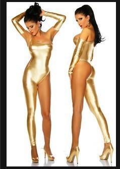 2017 dama srebrny złoty seksowny bielizna body i rękawiczki erotyczne fałszywe skórzane catsuit kostium dziewczyna klub nocny taniec odzież