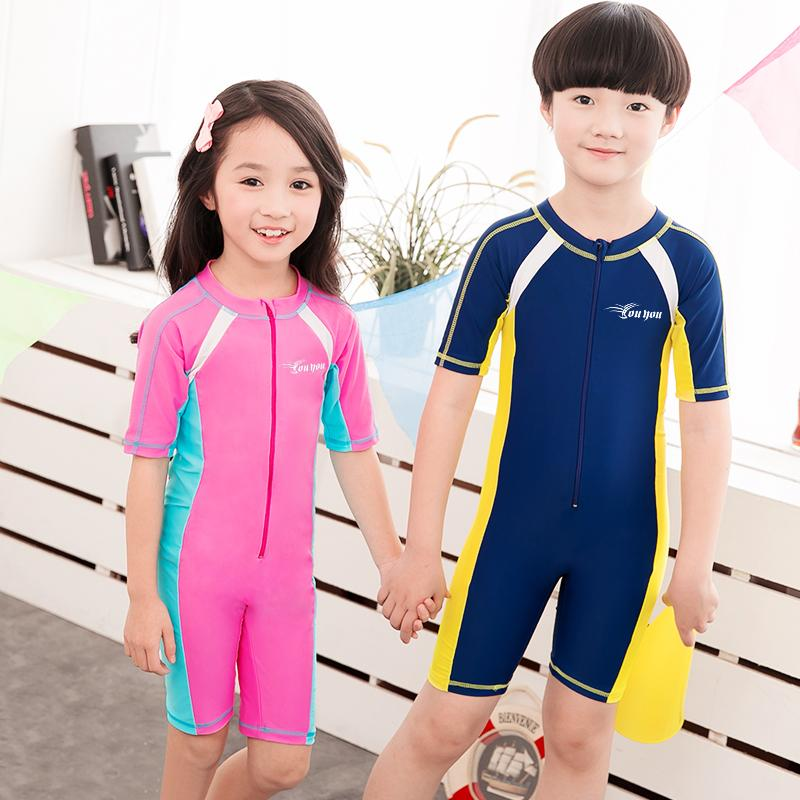862fad9113fc2 2019 Child Swimwear One Piece Boys Girls Swimsuits Kids Bathing Suits Baby  Swimsuit Girl Children Beach Wear Diving Swimming Suit From Blueberry07