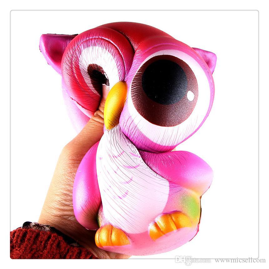 Squishy Yavaş Yükselen Jumbo Oyuncak Topuz Oyuncaklar Hayvanlar Sevimli Kawaii Sıkmak Karikatür Oyuncak Mini Baykuş Squishy Moda Sevimli Hayvan