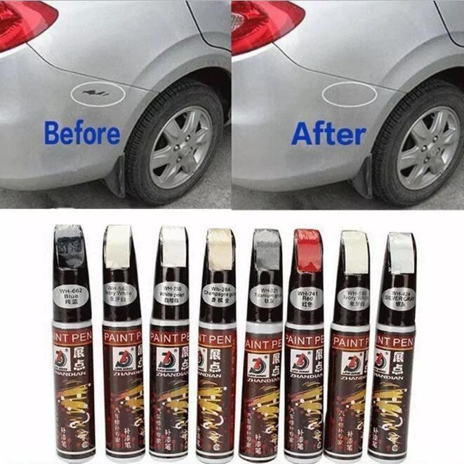 Reparación Pluma selladora de relleno Auto Car reparación de la pluma Escudo Retocar la cubierta rayada Eliminar Reparar Arreglar Borrar la pintura