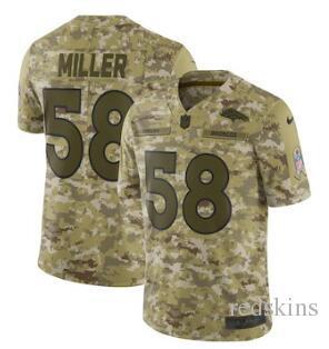 58 Von Miller Jersey Denver Broncos Bradley Chubb Phillip Lindsay ... 440b15149