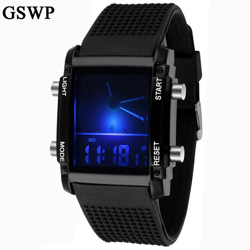 04f5bcffb65 Compre 2018 Novos Homens Led Relógios Esportes Relógio Digital Relógio  Militar Ao Ar Livre Casual Mulheres Relógios De Pulso Relogio Masculino De  Top7