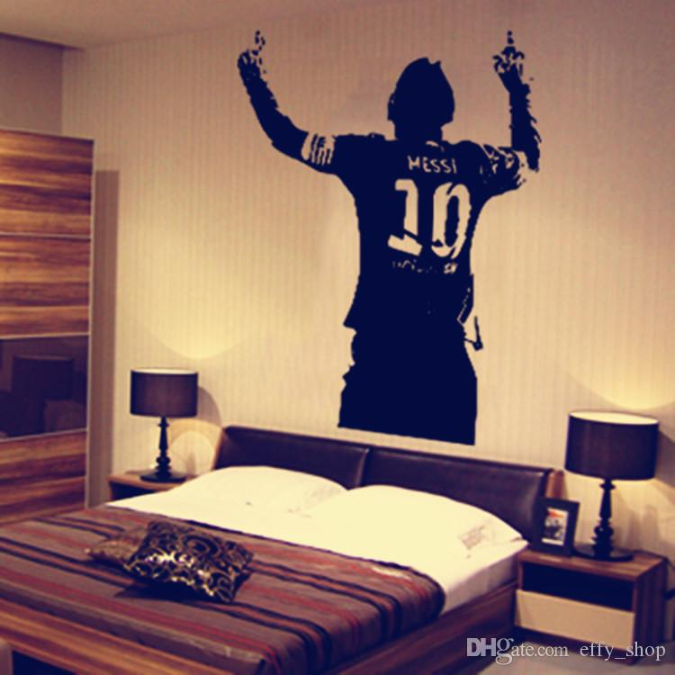 60*42cm Messi Wall Decal Sticker Poster Boys Room Football Soccer Player Argentina Leo Creative Vinyl Wall Decal Mural Home Decor