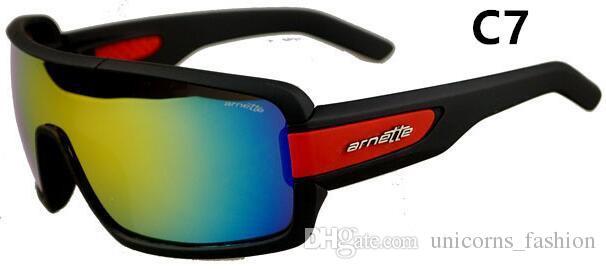 7 farben Sport Helle Reflektierende Sonnenbrille Mode Sonnenbrille Reflektierende Reit Sonnenbrille männer Fahrrad Glas A +++ UNY13