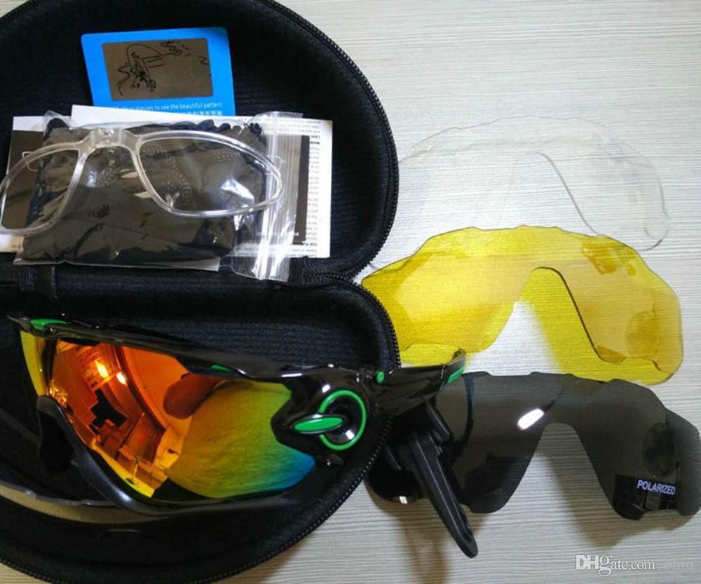 4c49e1d5e2 Fashion Cycling Glasses Sports Sunglasses Cycling Sunglass Polarized Women  Men Interchangeable 3 Lens Jawbreaker Bicycle Eyewear with Box Holbrook  Polarized ...