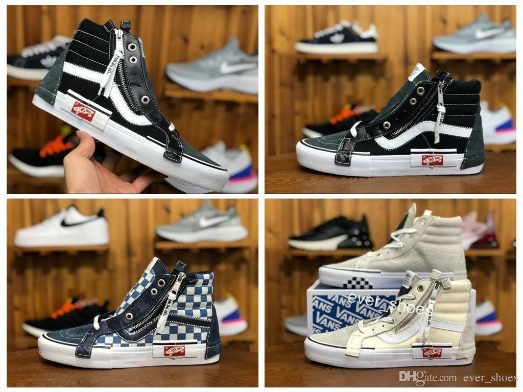 2018 VAULT OG SK8-HI SLIP ON CAP LX Women Men Zip Old Skool Shoes ... eb56d7027