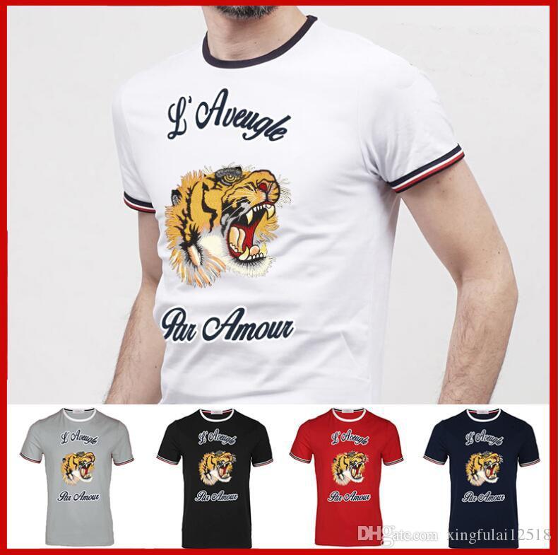 Compre 2018 Nova Marca Dos Homens De Impressão Polos Camisa Para Homens De  Luxo Polo Homens De Algodão De Manga Curta Camisa Dos Homens Tee 5 Cor De  ... e52f8a72a2b24