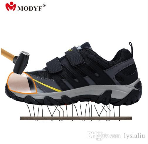 Schuhe Herren Outdoor Stahl Kappe Kappe Arbeiten Schuhe Herren Anti-piercing Sicherheit Schuhe Atmungsaktive Frauen Arbeit Stiefel