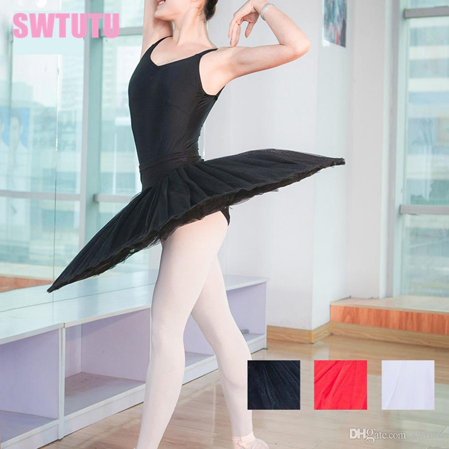 red women professional half ballet tutu 7layer tulles adult girls practicing training ballerina tutu dress