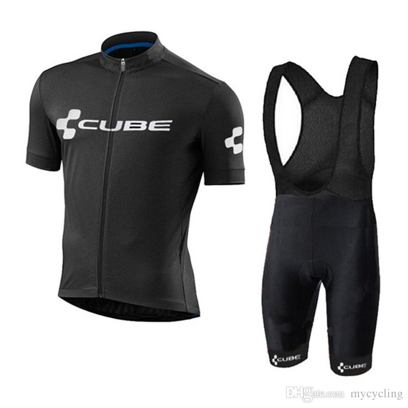 2018 new Pro Team Cube Cycling Jerseys Kit Ropa Ciclismo Quick Dry Sports Jersey Cycling Clothing Suit factory direct sale C2801