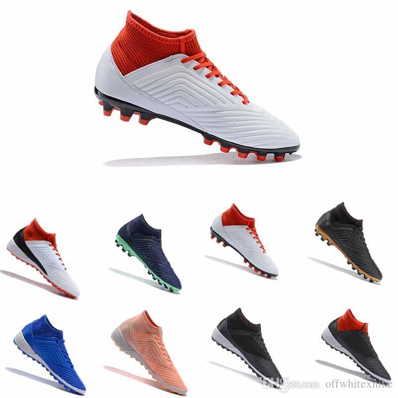 64d1d20a79bd New Predator 18+ Mens FG Football Boots 2018 Techfit Laceless High ...