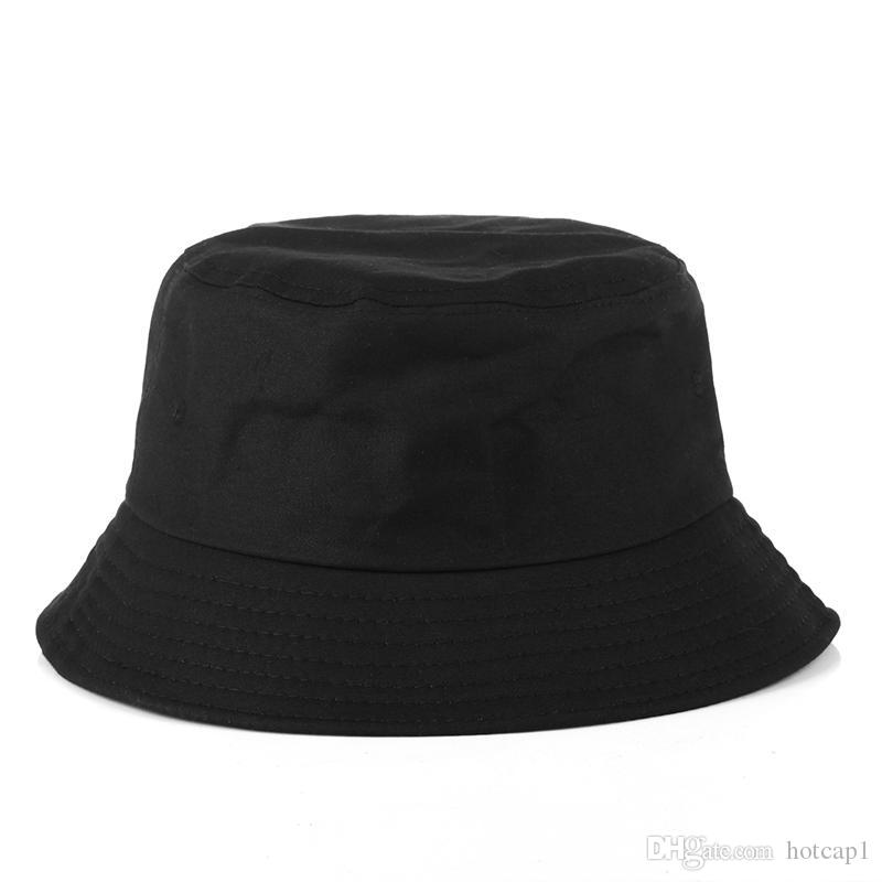 ecfc3bd8ce1 2018 Fashion Bucket Cap Foldable Fishing Caps Beach Sun Visor Blank Bucket  Cap Sale Folding Man Bowler Cap For Mens Womens Wide Brim Hat Tea Party Hats  From ...