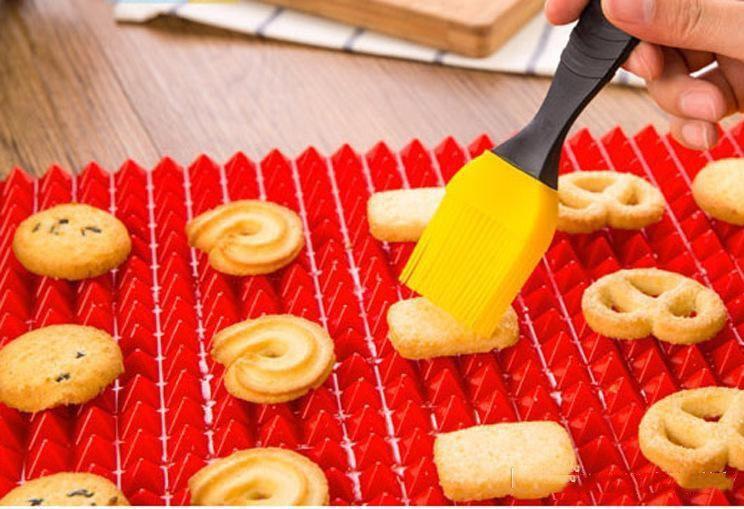 Piramit Bakeware Pan Yapışmaz Silikon Pişirme Mats Pedleri Kalıpları Pişirme Mat Fırın Pişirme Tepsisi Sac Mutfak Araçları b775