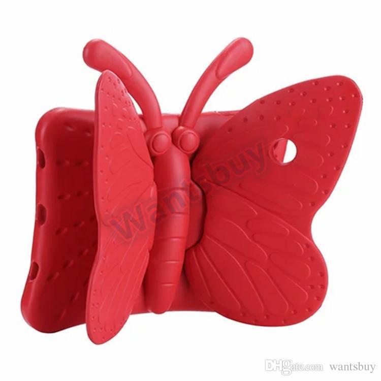 Para iPad Pro 9.7 10.5 Air Mini 2 3 4 3D Cute Cartoon Butterfly Kids EVA Foam Tablet Stand Funda