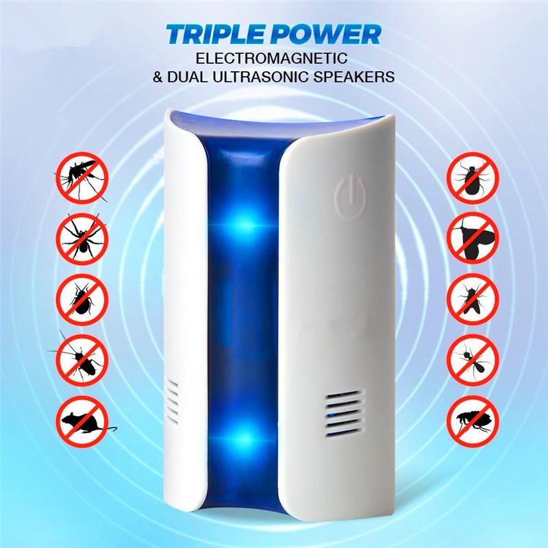 Frequency Conversion Ultrasonic Multifunction Insect Mosquito Repellent Pest Repeller Control Fly Insect Bug Kill Zapper Killer