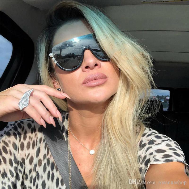 ceeb7dfa8d ROSANNA Luxury Pearl Cat Eye Sunglasses Women 2018 Brand Designer ...
