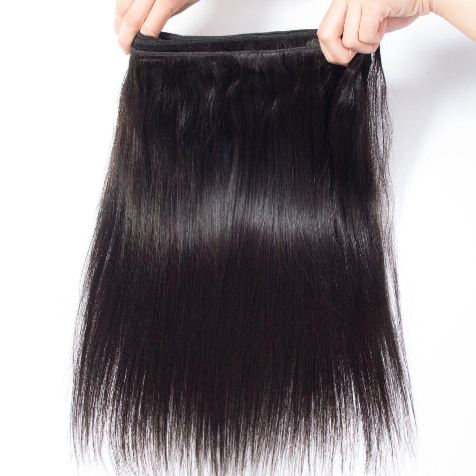 2 Bundles visón paquetes de armadura de pelo virginal brasileño 8-30 pulgadas 100% paquetes de color negro natural de Jet de pelo humano