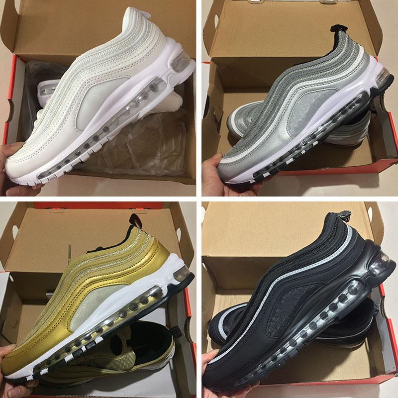 Nike Air Max 97 sneakers 2018 Venta Caliente Nuevos Hombres Zapatos s Cojín KPU Zapatos de Entrenamiento de Plástico de Moda Al Por Mayor Zapatos Al