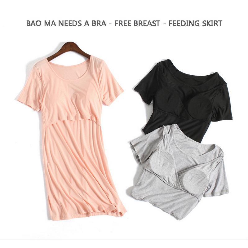 136f1363b Compre Vestido De Embarazo Vestidos De Maternidad De Verano Modal Lindo De  Manga Corta Suave Y Cómodo Lactancia Materna Vestido De Lactancia A005 A   67.49 ...