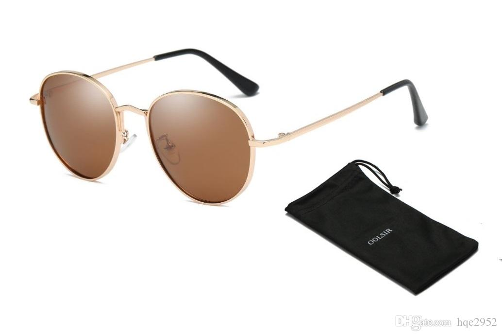 b24957ab5b2 Sunglasses for Men Women Small Round Metal Frame Oval Shape Unisex ...