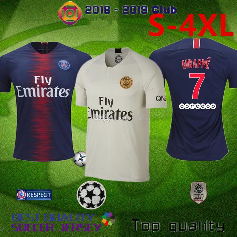 2019 PAris Psg 2018 2019 S 4XL Maillot MBAPPE NEYMa JR DI MARIA Soccer  Jersey VERRATTI MATUIDI CAVANI ZLATAN MAILLOT CAMISA Football Uniform From  Wutb 82d78cf85