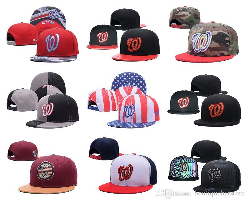 929dfd59d36a1 Wholesale Top Quality Nationals Snapback Hats Embroidered W Letter Team  Logo Camo Color Cheap Sports Baseball Adjustable Caps Bones Mens Hats  Baseball Cap ...