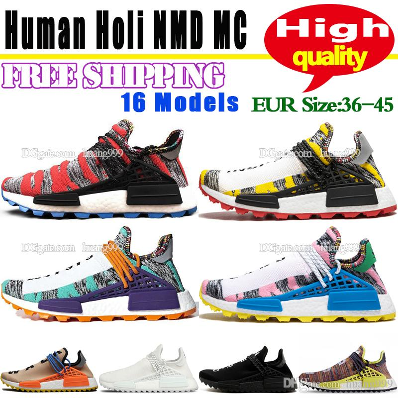 2ceef8fd7 Pharrell Williams Solar Hu NMD Running Shoes For Men Shoes 2018 Originals  Fashion Womens Sneakers Cheap Human Race Trail Holi Sports Shoes F Mens  Shoes ...