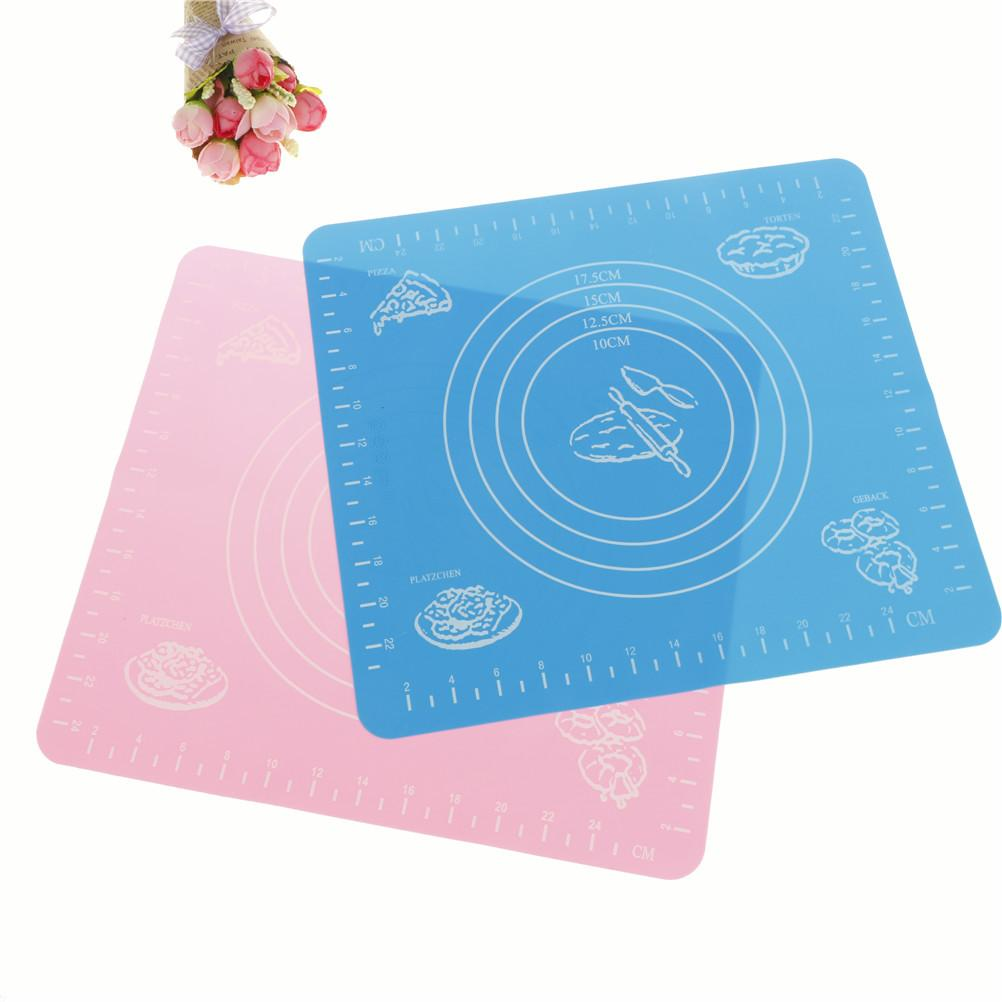 Small Placemat Cut Fondant Cake Clay Pastry Icing Dough Tool Silicone Mat