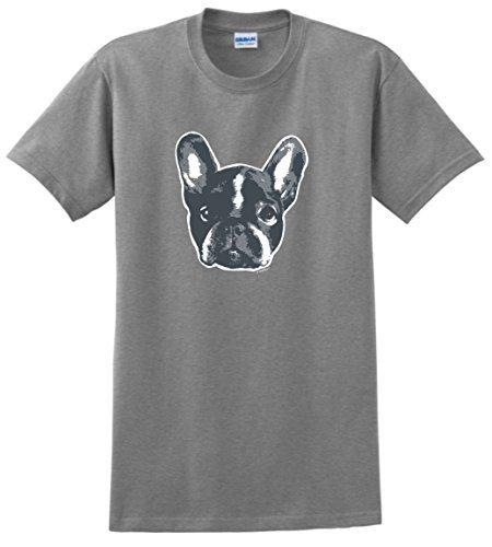 Male Battery Funny Cotton Tops Tall Men O Neck Short Sleeve Middle Aged French Bulldog Gifts Face Bulldog T Shirt Cool Tee Designs Tees Shirts Cheap From ...