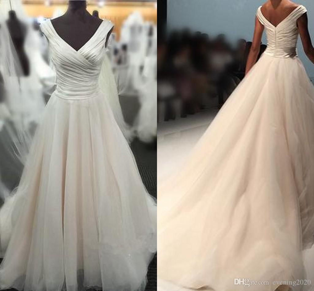 Discount Selling Sweet Wedding Dresses Mopping Long Section Pleats