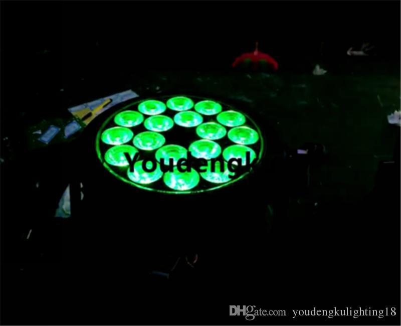 4 parça Su Geçirmez Olay Düz sahne ışık Çin led par ışık mix renk rgbw 4in1 dmx par led 18x12 w