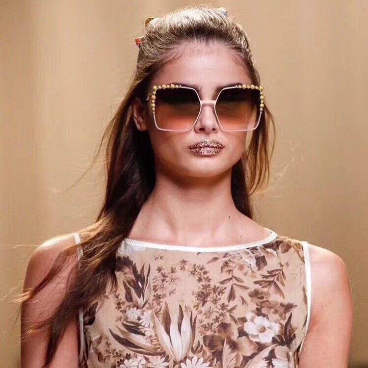 Luxus 0051 Sunglasse Für Frauen Design Beliebte Sonnenbrillen Charming Fashion Top Qualität UV Schutz Silber Sonnenbrille Kommen Mit Paket