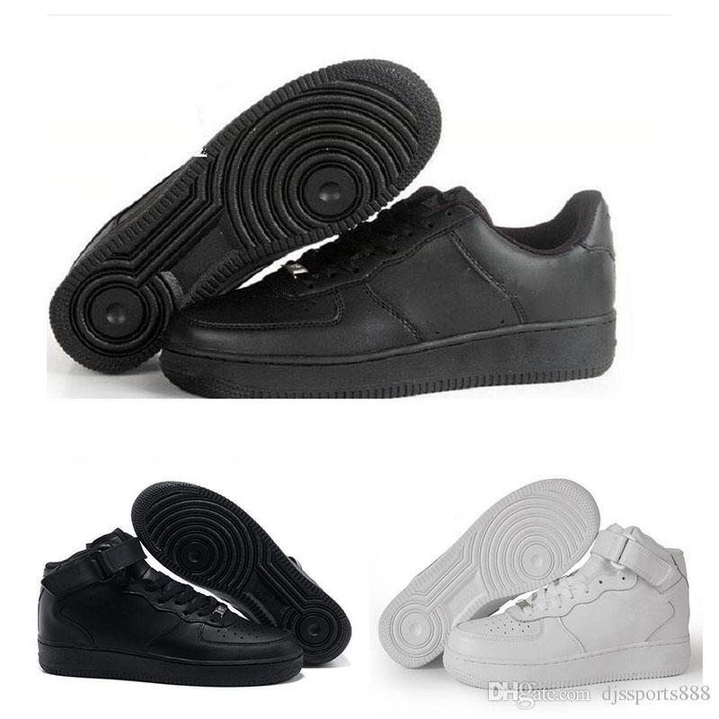 best sneakers 62059 5419d ... 2018 Nike Air Force 1 Ultra Flyknit Venta Caliente Nuevas Fuerzas  Classical One Todo Blanco Negro De Corte Alto Hombres Mujeres Zapatos  Casuales Tamaño ...