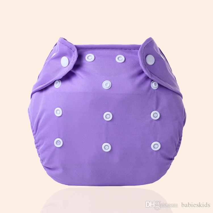 Ananbaby Washable Baby Cloth Diaper Cover Waterproof Solid Color Baby Diapers Reusable Cloth Panties Nappy Changing