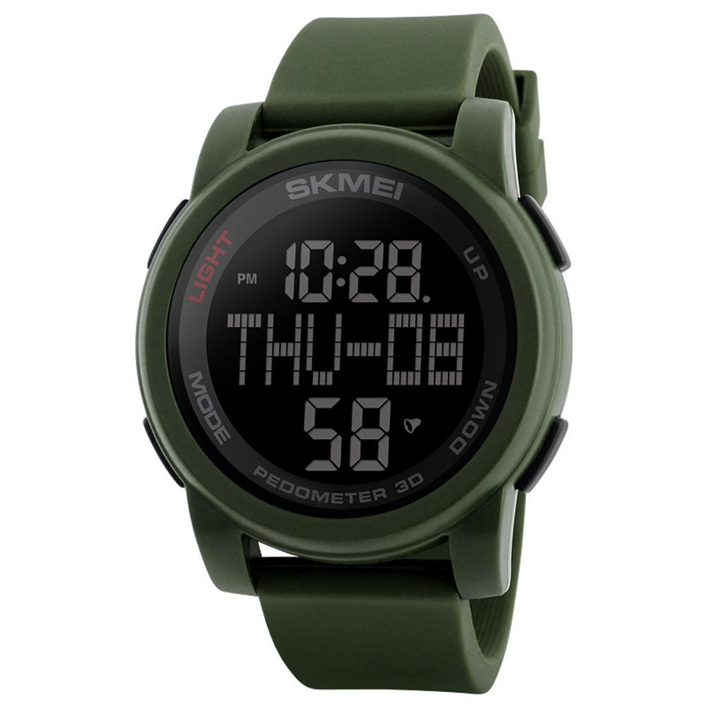 Wasserdicht 50 Mt Runden Zifferblatt Silikon Band Student Männer Sport Digitale Armbanduhr Militärische Elektronik Hot Clock Uhren Uhren