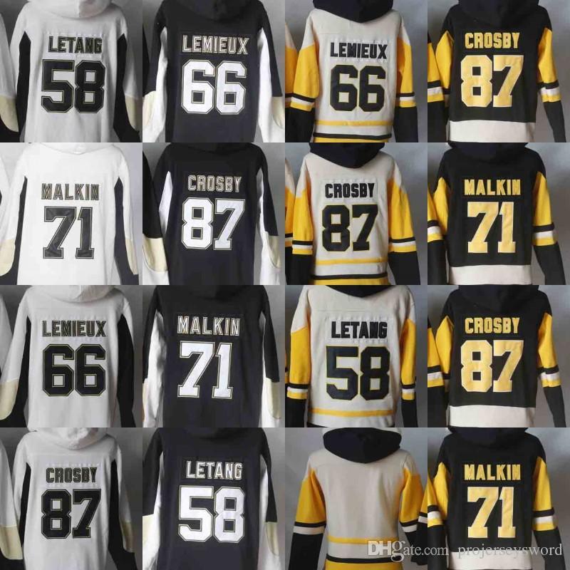 sale retailer f2811 69620 Mens Hoodie Jersey Blank 58 Kris Letang 71 Evgeni Malkin 66 Mario Lemieux  81 Phil Kessel 87 Sidney Crosby Hoodies Sweatshirts