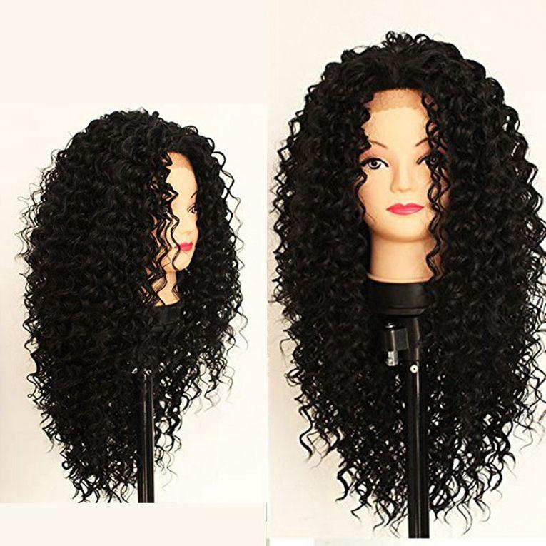 Pelucas llenas del cabello humano del cordón del grado 8A rizadas rizadas con el pelo del bebé Peluca rizada peruana del pelo de la Virgen del 150% densidad para la mujer negra
