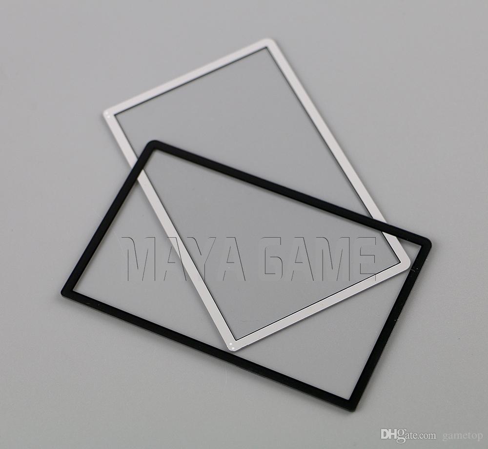 Film protecteur de l'écran LCD de couverture de l'objectif de cadre de l'écran blanc noir pour la nouvelle console 3DS