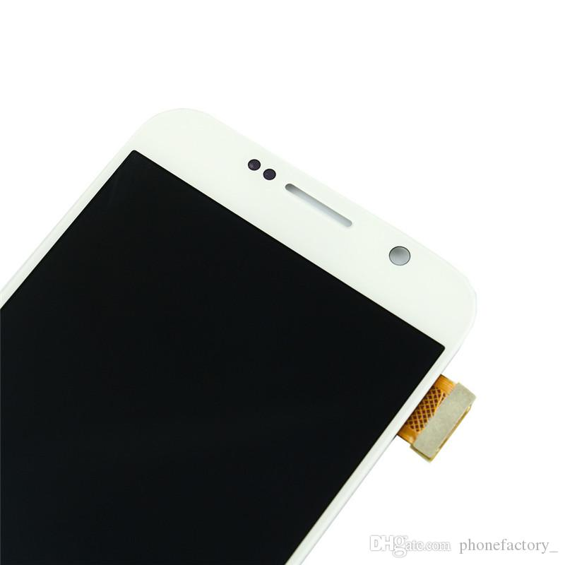 100% Original 5.1inch Super AMOLED Display lcd for S6 Samsung Galaxy Frame Assembly Digitizer lcd for Samsung LCD g920f g920 g920a