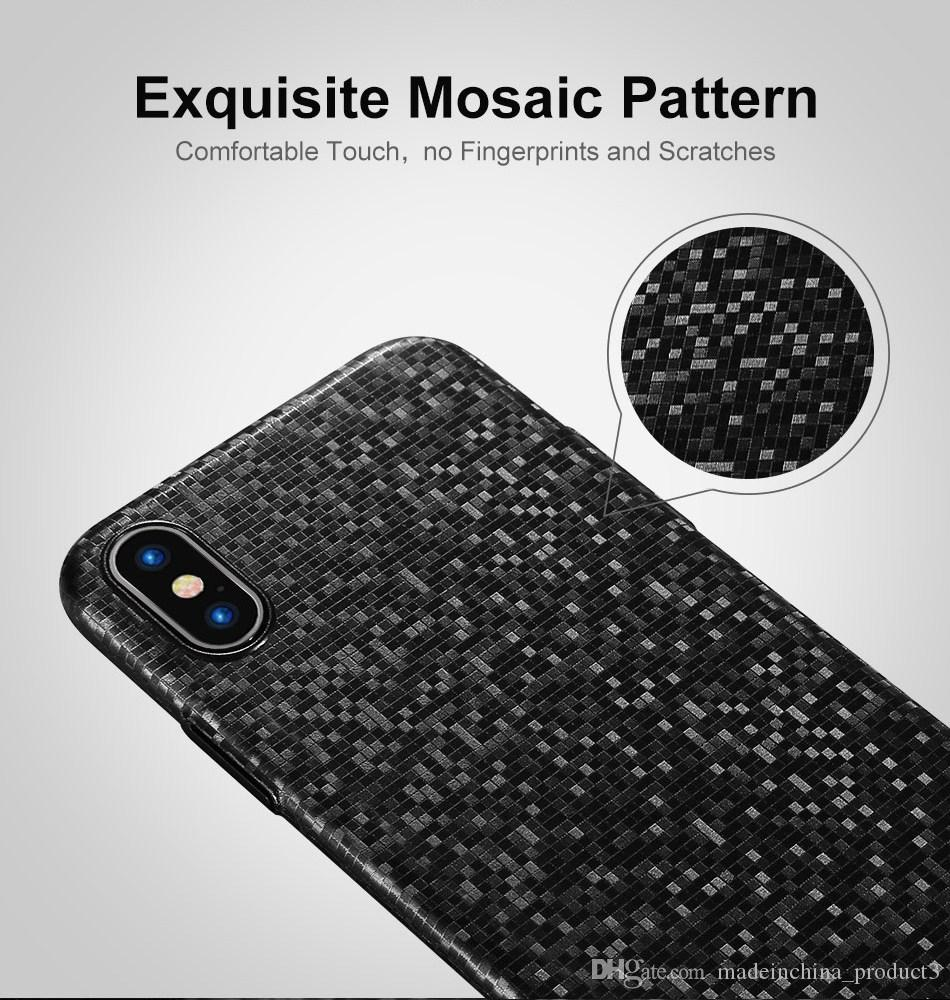 Cool Mosaic Case iPhone X 8 plus Cover Ultra Thin PC Fundas For iPhone 7 6 6S Plus Smartphone Fitted Cases Capa